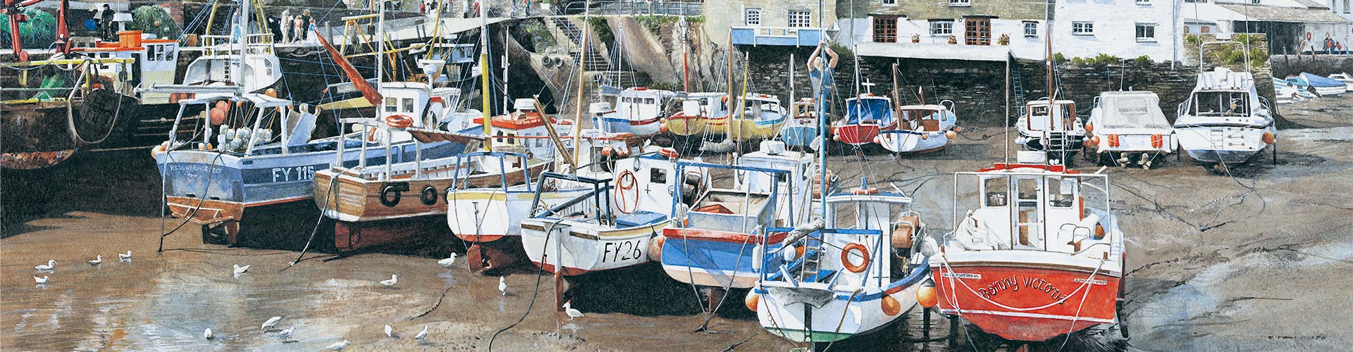 #02109 polperro cornwall. Copyright - Alistair Butt RSMA